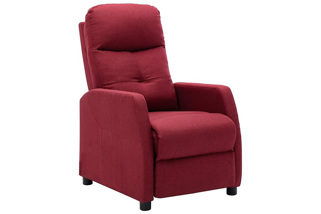 Lænestol Med Push Back-Funktion Stof Vinrød - Møbler - Lænestole & puffer - Recliner lænestol