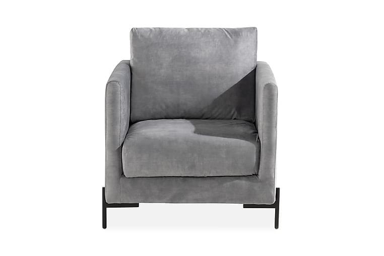 Barbet Velour Lænestol - Grå - Møbler - Lænestole & puffer - Velour Lænestol