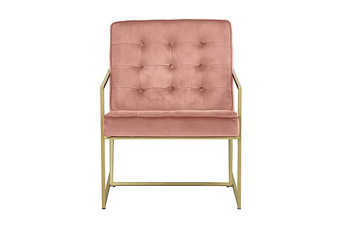 Indy Lænestol Velour - Lakserosa - Møbler - Lænestole & puffer - Lænestole