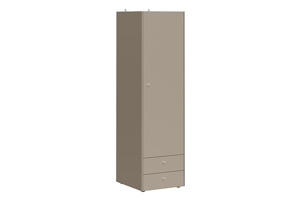 Abelone Garderobe 55 cm Låge 2 Skuffer - Grå - Møbler - Opbevaring - Garderobeskabe