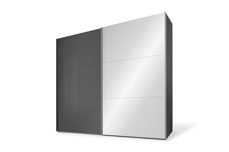 Bonnye Garderobe 250 cm Spejl - Sort - Møbler - Opbevaring - Garderobeskabe