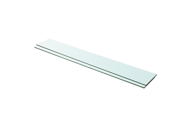 hylder 2 stk. glaspanel 100 x 15 cm klar - gennemsigtig - Møbler - Opbevaring - Garderobeskabe