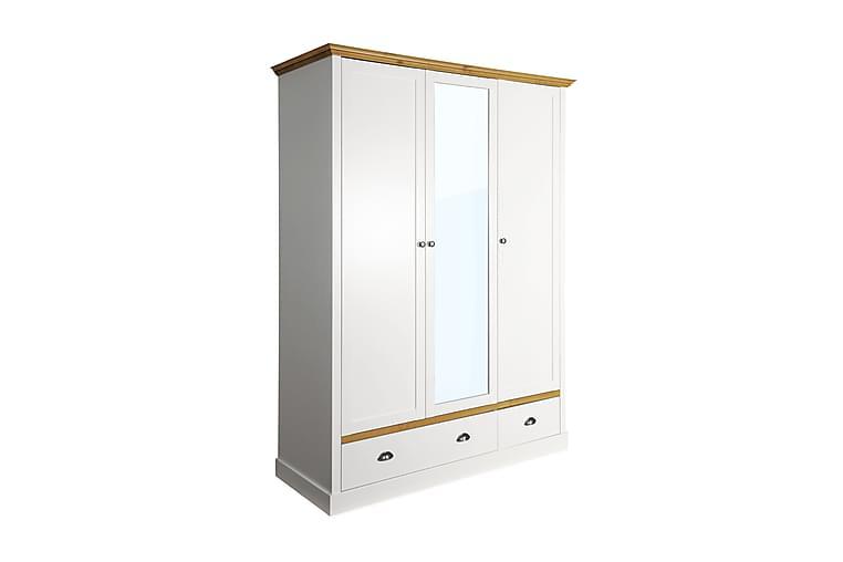 Sandringham Garderobe 148 cm - Hvid/Natur - Møbler - Opbevaring - Garderobeskabe