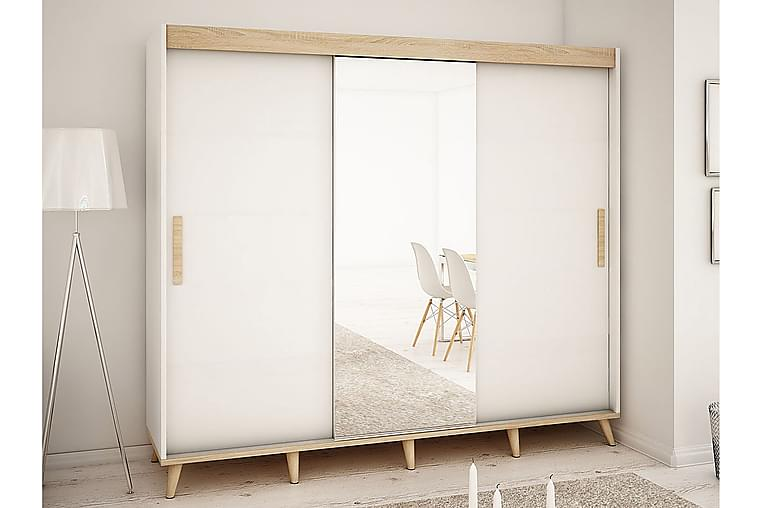 Skandi garderobe 250x62x208 cm - Møbler - Opbevaring - Garderobeskabe