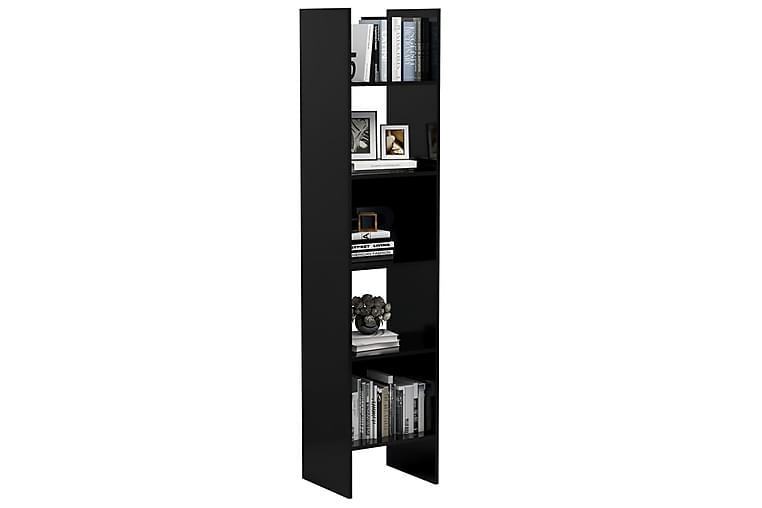 bogskab 40x35x180 cm spånplade sort højglans - Sort - Møbler - Opbevaring - Hylder & Reoler