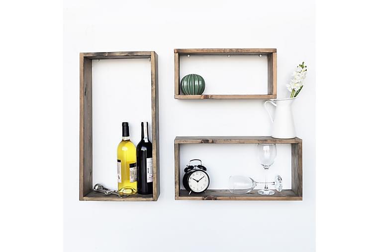 Evila badeværelseshylder Sæt på 3 - Træ - Møbler - Opbevaring - Hylder & Reoler