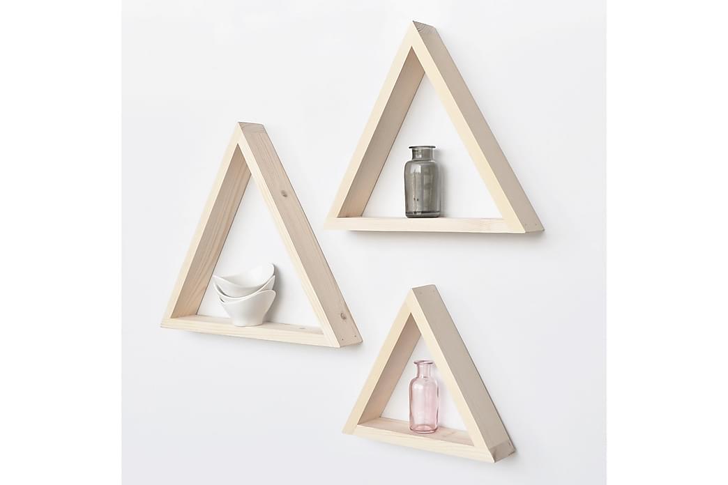 Evila trekanthylder - Træ - Møbler - Opbevaring - Hylder & Reoler