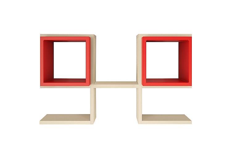 Homitis væghylde - Hvid / rød - Møbler - Opbevaring - Hylder & Reoler