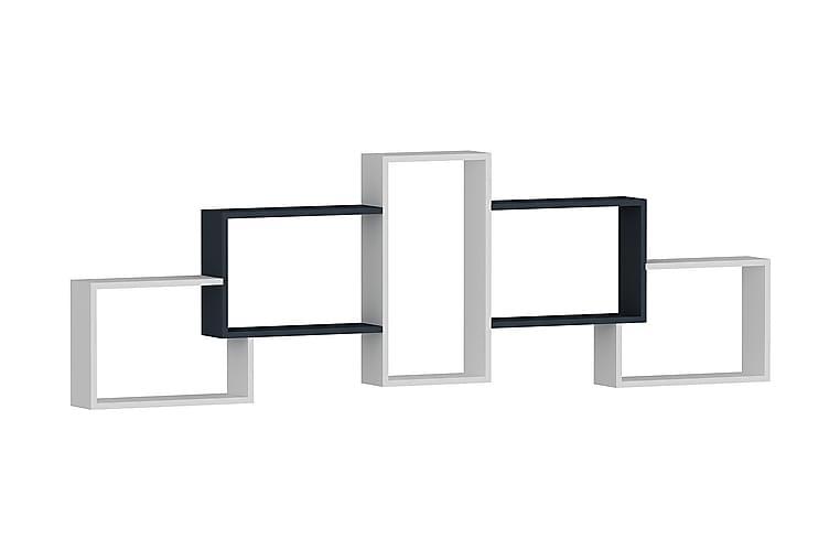 Palnackie Hylde 162 cm - Hvid|Antracit - Møbler - Opbevaring - Hylder & Reoler