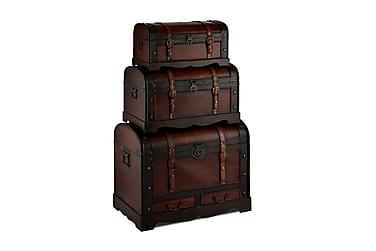 Trunks Kufferter i Træ Rund Top
