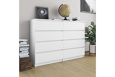 Skænk 140 x 35 x 79 cm spånplade hvid