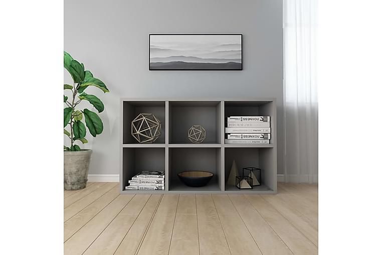 Bogskab/skænk 50 x 25 x 80 cm spånplade grå - Grå - Møbler - Opbevaring - Skænke & sideboards