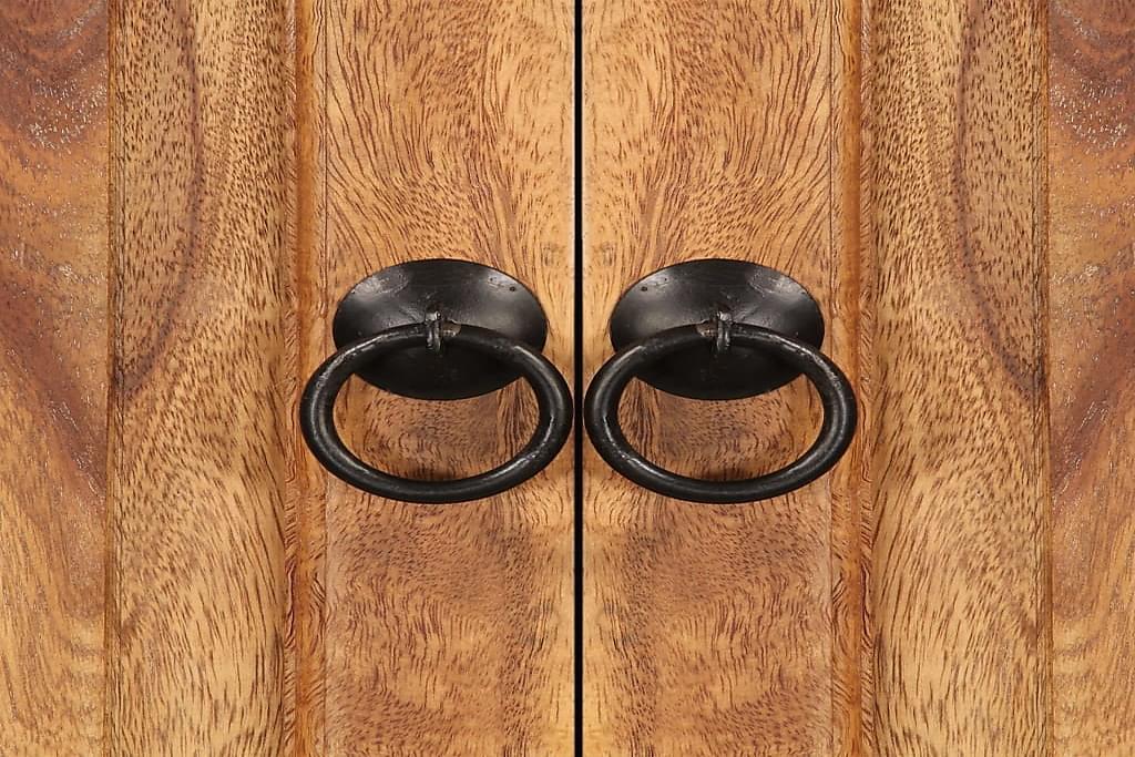 Skænk 110 X 45 X 80 Cm Massivt Sheeshamtræ - Brun - Møbler - Opbevaring - Skænke & sideboards