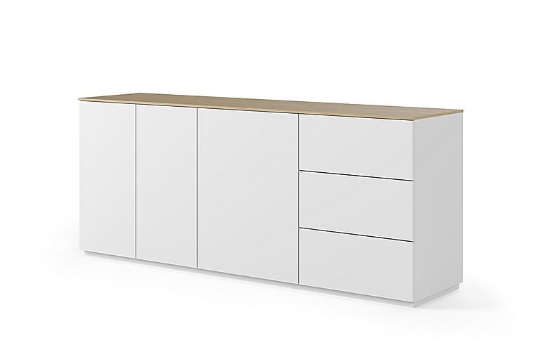 Temahome Kolesar Skænk 200x84 cm - Hvid/Lys Træ - Møbler - Opbevaring - Skænke & sideboards