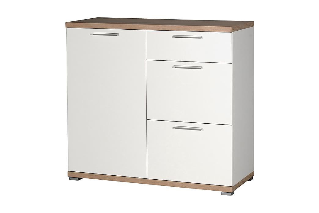 Warell Skænk 96 cm - Eg/Hvid - Møbler - Opbevaring - Skænke & sideboards