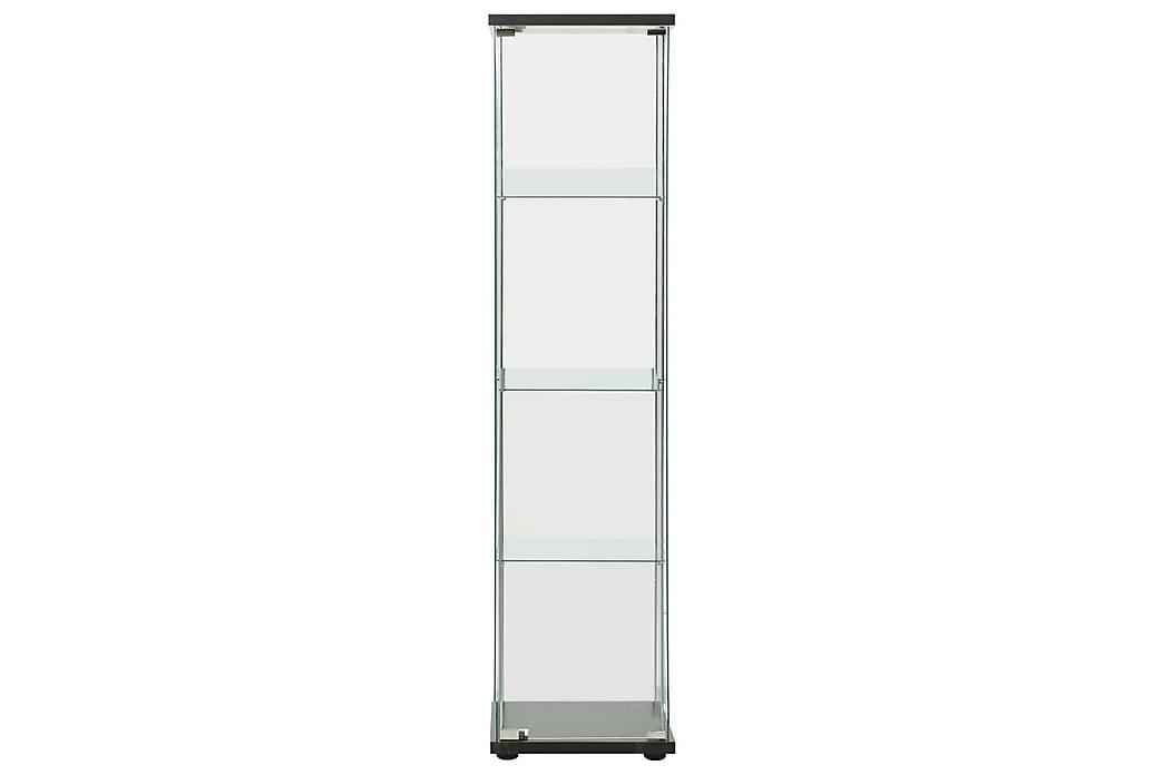 opbevaringsskab hærdet glas sort - Sort - Møbler - Opbevaring - Vitrineskabe