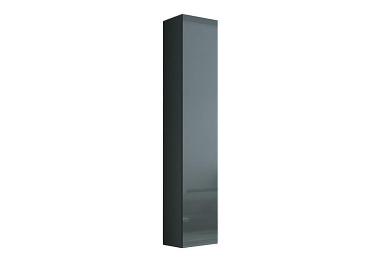 Vaseil Vitrineskab 180 cm - Grå - Møbler - Opbevaring - Vitrineskabe