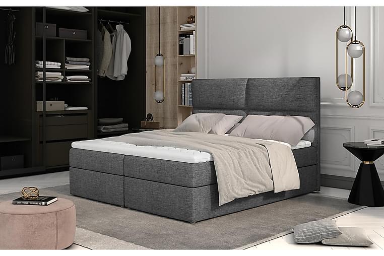 Amberan Sengepakke 160x200 cm - Grå - Møbler - Senge - Komplet sengepakke