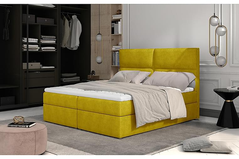 Amberan Sengepakke 160x200 cm - Gul - Møbler - Senge - Komplet sengepakke