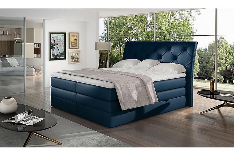 Bellamir Sengepakke 160x200 cm - Blå - Møbler - Senge - Komplet sengepakke