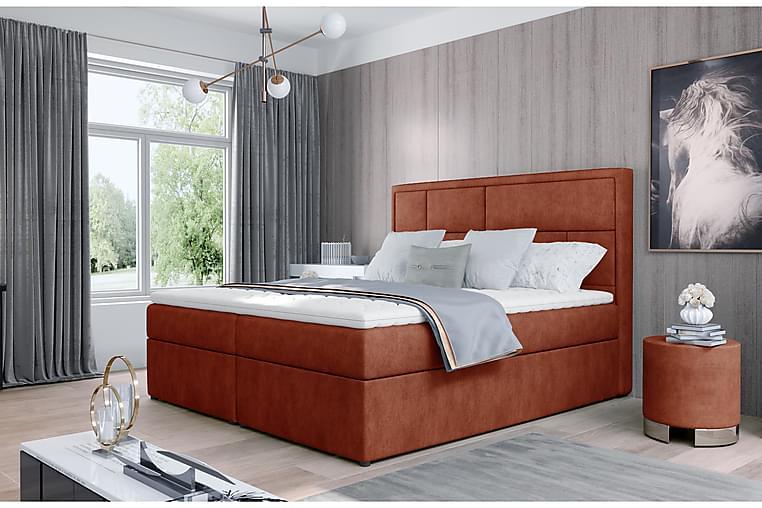 Emeron Sengepakke 140x200 cm - Rød - Møbler - Senge - Komplet sengepakke