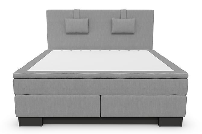 Hilton Lyx Komplet Sengepakke 160 cm Lysegrå - Sort Sokkel - Møbler - Senge - Komplet sengepakke