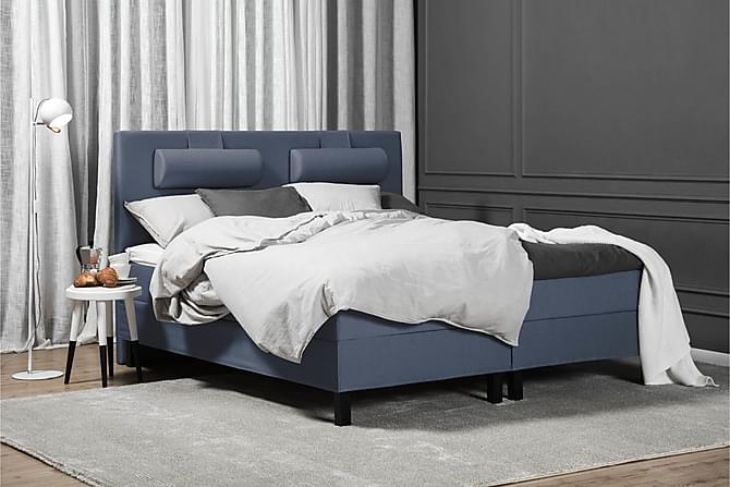 Lucky Kontinentalseng 160x200 Skum - Blå - Møbler - Senge - Komplet sengepakke
