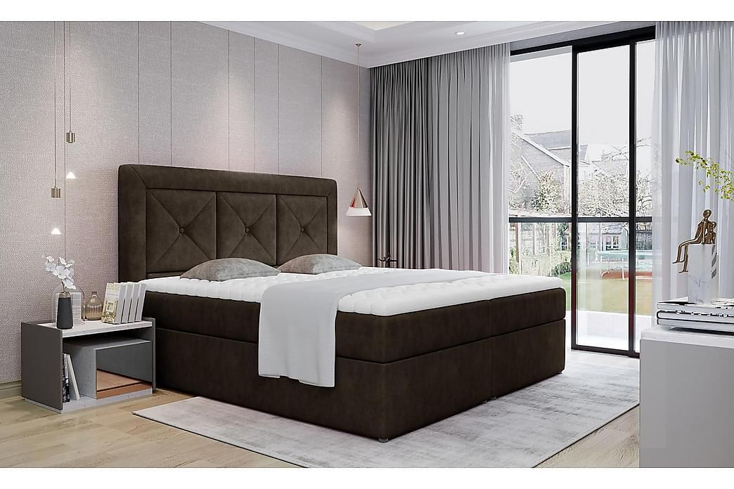 Sidria Sengepakke 160x200 cm - Brun - Møbler - Senge - Komplet sengepakke
