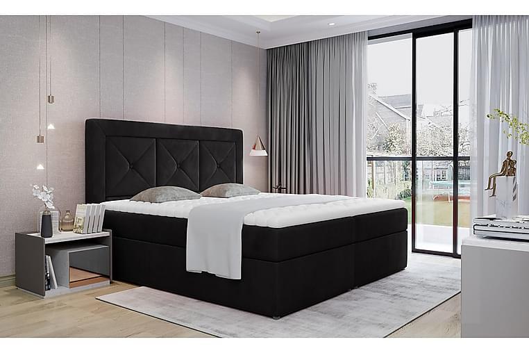 Sidria Sengepakke 160x200 cm - Sort - Møbler - Senge - Komplet sengepakke