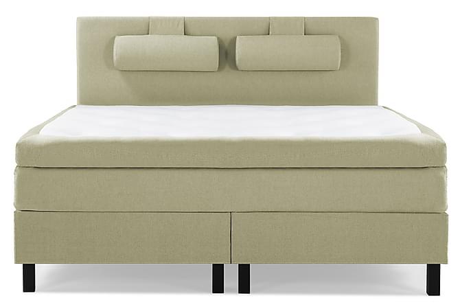Lucky Kontinentalseng 150x200 polyester - grøn - Møbler - Senge - Kontinentalsenge