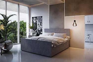 Roma sengepakke 180x200 mønstret Gavl