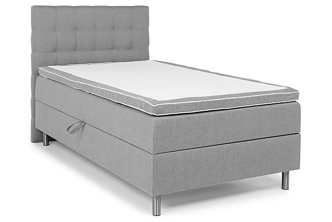Montana Komplet Sengepakke med Opbevaring 120x200 - Lysegrå - Møbler - Senge - Komplet sengepakke