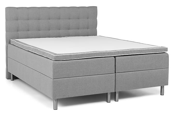 Montana Komplet Sengepakke Box Bed 180x200 - Lysegrå - Møbler - Senge - Dobbeltsenge