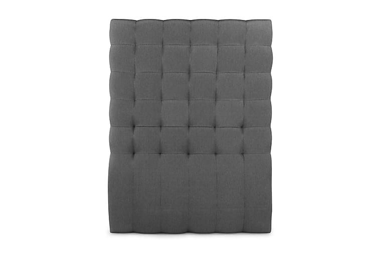 Elite sengegavl 120 cm Quiltet høj - Grå - Møbler - Senge - Sengegavle