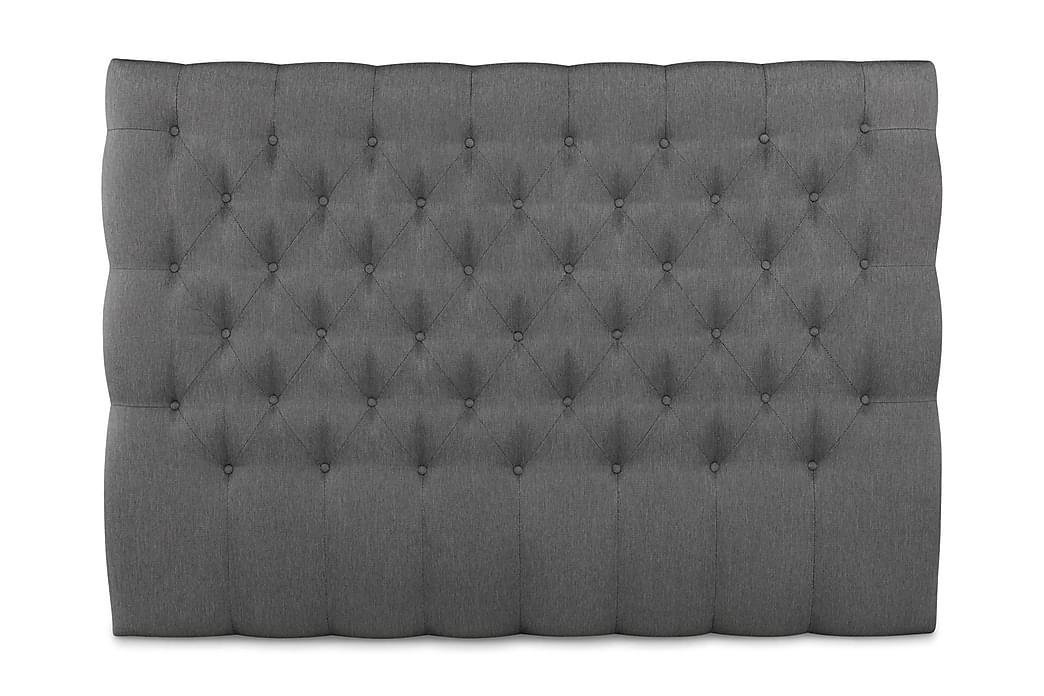 Elite sengegavl 160 cm dybt tuftet lav - Grå - Møbler - Senge - Sengegavle
