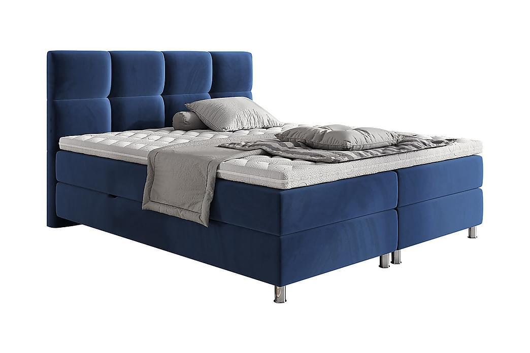 Adrianah Sengeramme 120x200 cm - Blå - Møbler - Senge - Sengeramme & sengestel