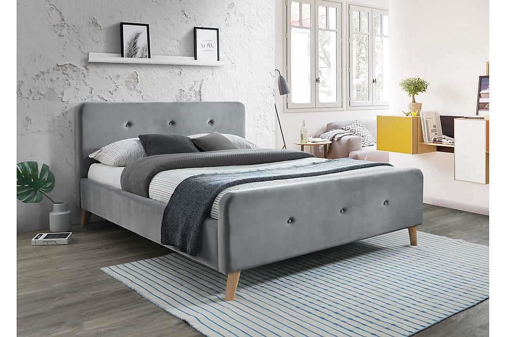 Gyllins Sengeramme 160x200 cm - Grå - Møbler - Senge - Sengeramme & sengestel