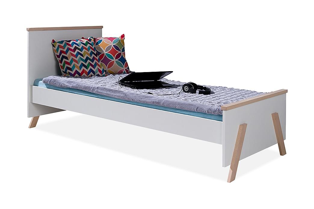 Kora Seng 99x209 cm - Hvid - Møbler - Senge - Sengeramme & sengestel