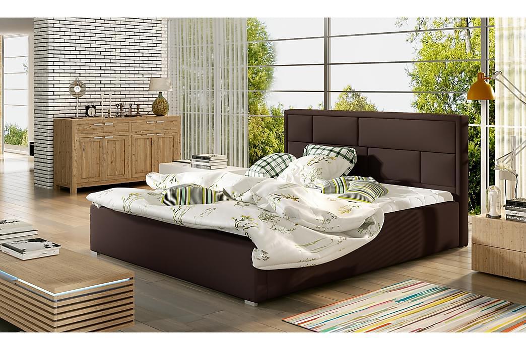 Leganiel sengeramme 160x200 cm - Brun - Møbler - Senge - Sengeramme & sengestel