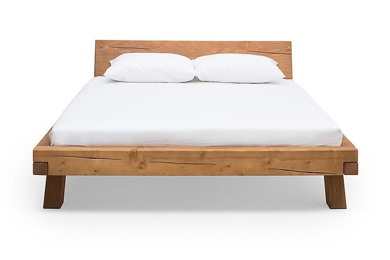 Seng 160 x 200 cm - Brun - Møbler - Senge - Sengeramme & sengestel