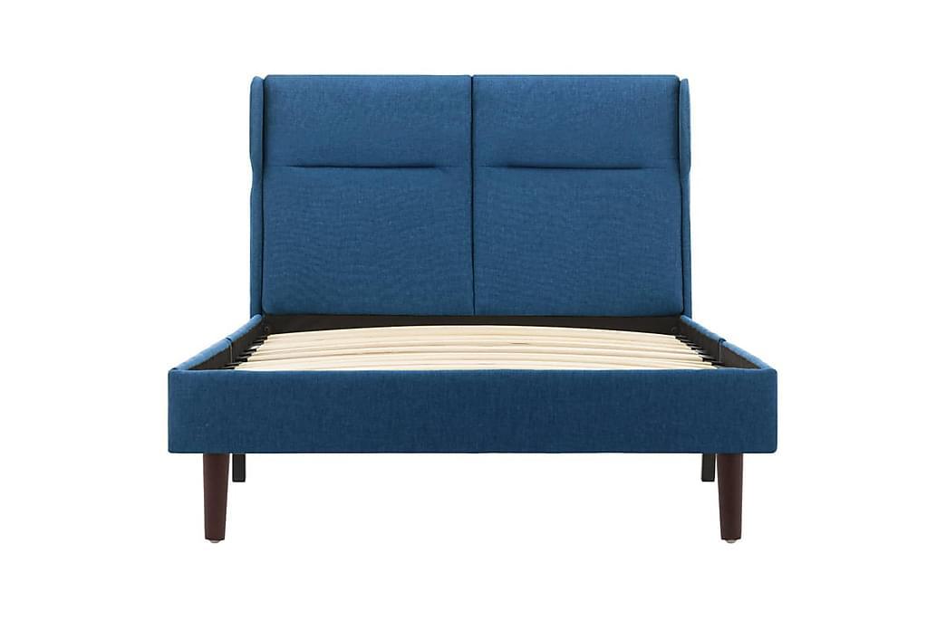 Sengestel 100x200 cm Stof Blå - Blå - Møbler - Senge - Sengeramme & sengestel