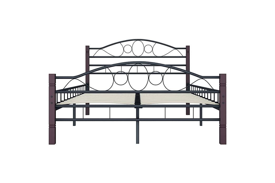Sengestel 120 X 200 Cm Metal Sort - Sort - Møbler - Senge - Sengeramme & sengestel