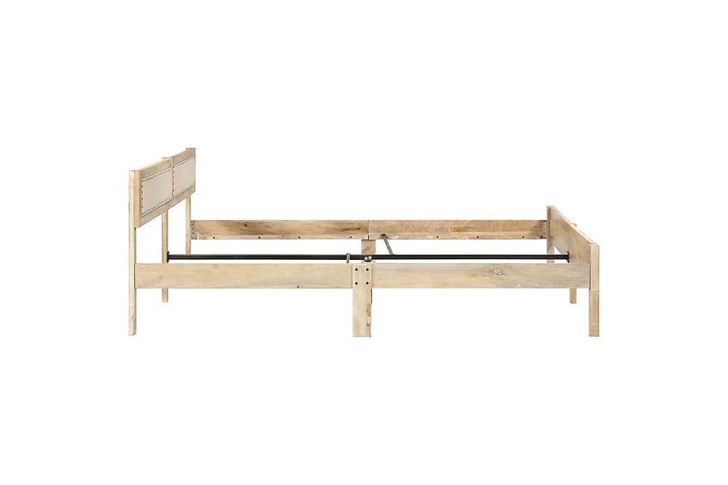 Sengestel 140 cm Massivt Mangotræ - Møbler - Senge - Sengeramme & sengestel