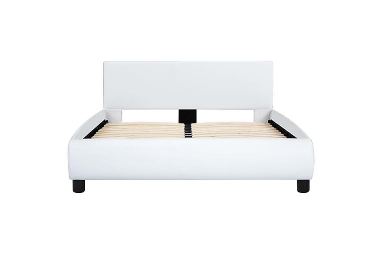Sengestel 140 x 200 cm kunstlæder hvid - Hvid - Møbler - Senge - Sengeramme & sengestel