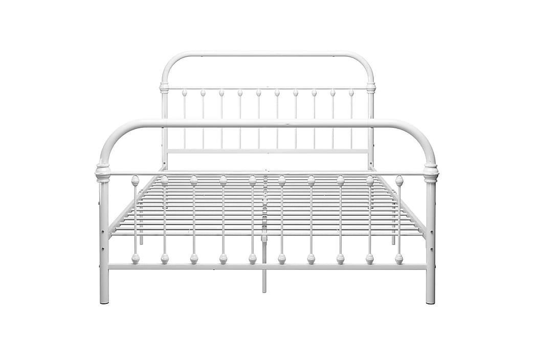 Sengestel 140x200 cm Metal Hvid - Hvid - Møbler - Senge - Sengeramme & sengestel