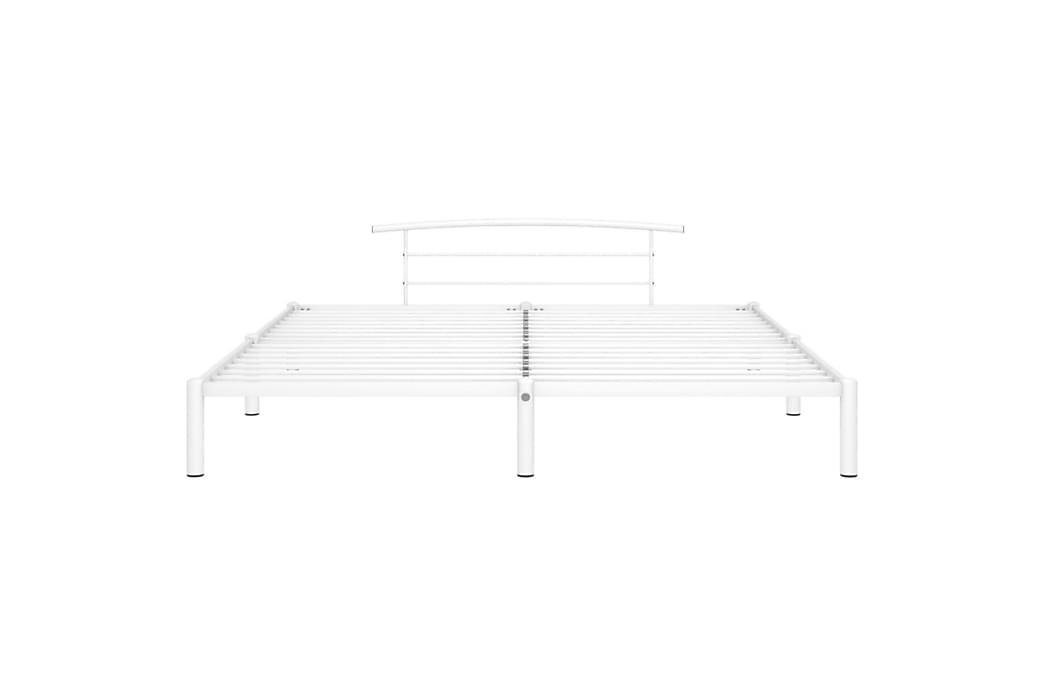 Sengestel 180X200 cm Metal Hvid - Møbler - Senge - Sengeramme & sengestel