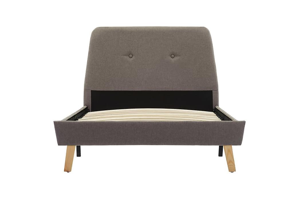 Sengestel 90x200 cm Stof Gråbrun - Gråbrun - Møbler - Senge - Sengeramme & sengestel