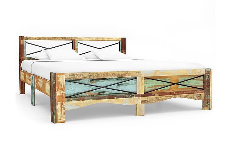 Sengestel Massivt Genanvendt Træ 160 X 200 Cm - Flerfarvet - Møbler - Senge - Sengeramme & sengestel