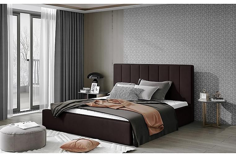 Sibculo Sengeramme 160x200 cm - Brun - Møbler - Senge - Sengeramme & sengestel