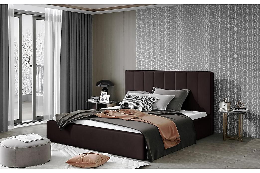 Sibculo Sengeramme 180x200 cm - Brun - Møbler - Senge - Sengeramme & sengestel